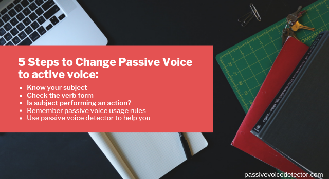how to avoid passive voice when writing free